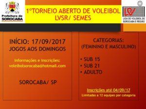 TORNEIO ABERTO DE SOROCABA 2017